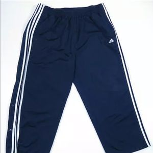 Vintage Adidas Spell Out 3 Stripe Tear Away Pants